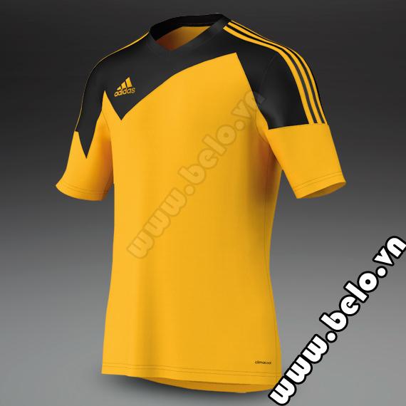 Áo bóng đá không logo rẻ Adidas Toque 13 vàng đen