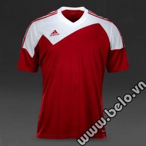 Áo bóng đá không logo rẻ Adidas Toque 13 đỏ tươi trắng