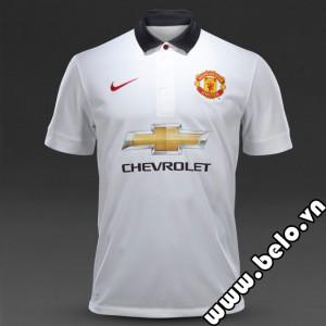 Áo bóng đá CLB Manchester sân khách trắng 2014-2015