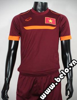 Áo bóng đá Training Việt Nam đỏ bã trầu vải cao cấp co dãn 4 chiều