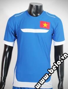 Áo bóng đá Training Việt Nam xanh dương vải cao cấp co dãn 4 chiều
