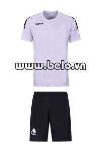 Áo bóng đá Kappa cao cấp thun co dãn 4 chiều màu trắng