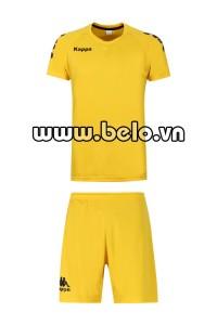 Áo bóng đá Kappa cao cấp thun thái màu vàng