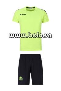 Áo bóng đá Kappa cao cấp thun co dãn 4 chiều xanh chuối
