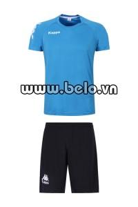 Áo bóng đá Kappa cao cấp thun co dãn 4 chiều xanh ngọc