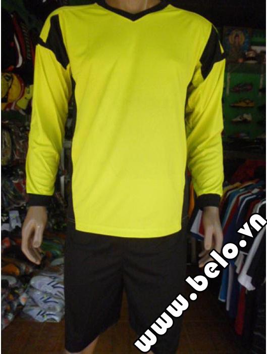 Áo thủ môn bóng đá giá rẻ màu vàng pha đen ATM04