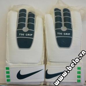 Găng tay thủ môn xịn Nike T90 Grip trắng