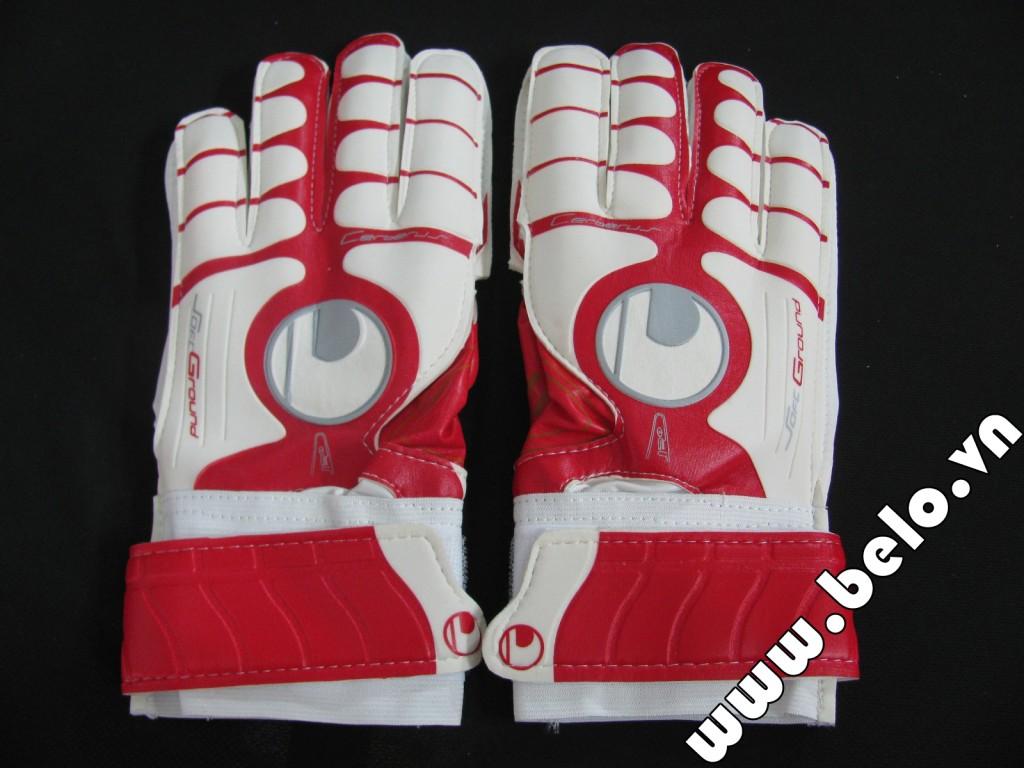 Găng tay thủ môn chính hãng GTM0009 xương cá trắng đỏ