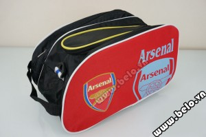 Túi đựng đồ bóng đá hai ngăn Arsenal màu đỏ
