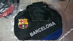 Túi đựng đồ bóng đá hình trống Barca đen xanh