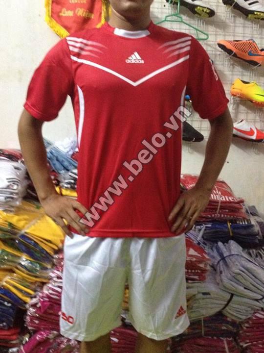 Áo bóng đá không logo giá rẻ Adidas F50 2015 đỏ tươi