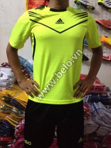 Áo bóng đá không logo giá rẻ Adidas F50 2015 xanh chuối