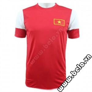 Áo bóng đá đội tuyển Việt Nam U19 đỏ trắng 2014-2015