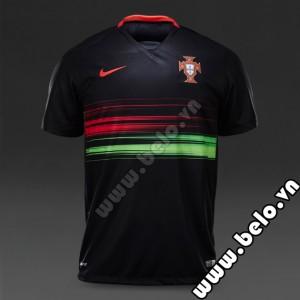 Áo đội tuyển Bồ Đào Nha 2015-2016 đen sân khách
