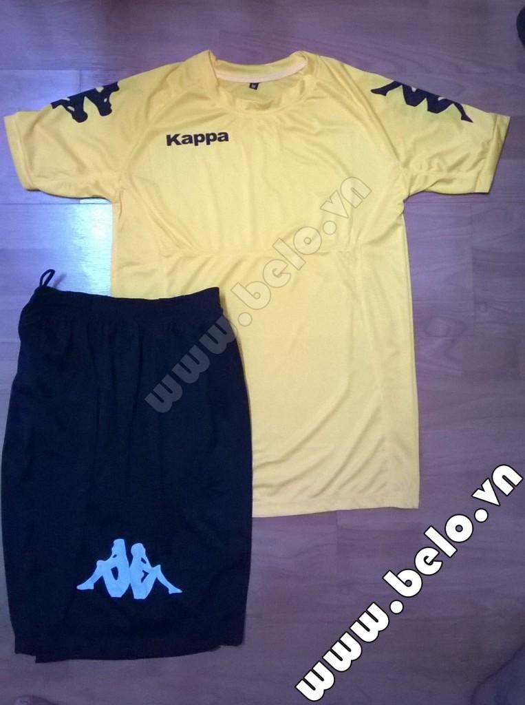 Áo bóng đá Kappa giá rẻ Simple 2015 màu vàng chanh