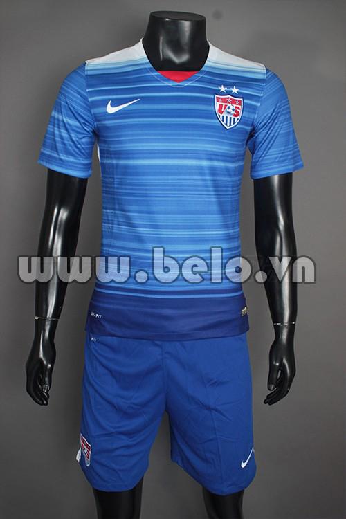 Áo bóng đá đội tuyển Mỹ 2015-2016 xanh sân khách
