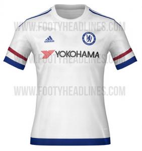 Áo bóng đá CLB Chelsea 2015-2016 sân khách