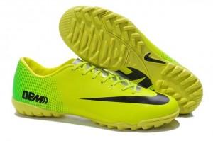 Giày bóng đá Nike chính hãng Mercurial Vapor 9 TF vàng chấm bi xanh