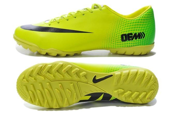 Giày bóng đá Nike Mercurial Vapor 9 TF vàng chanh cham bi xanh 4