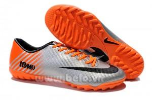Giày bóng đá Nike chính hãng Mercurial Vapor 10 TF cam bạc
