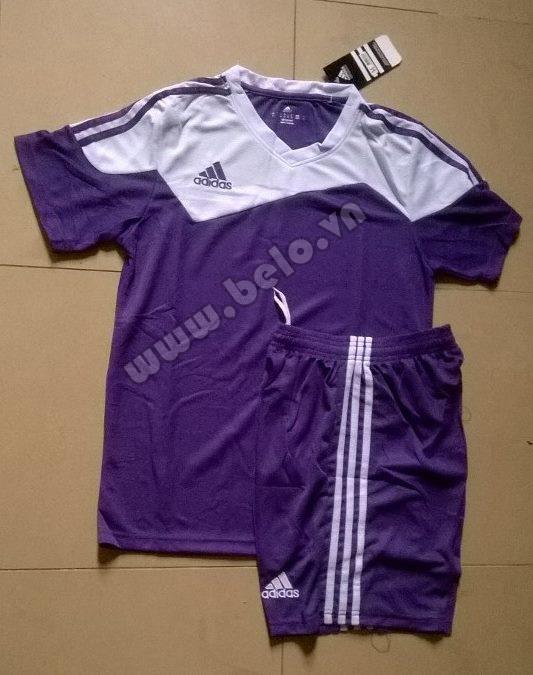 Áo bóng đá không logo rẻ Adidas Toque 13 màu Tím