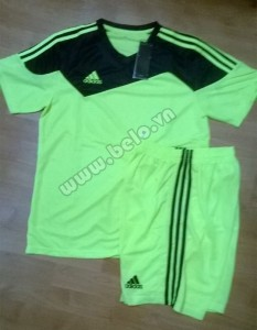 Áo bóng đá không logo rẻ Adidas Toque 13 Xanh Chuối
