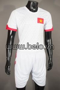 Áo bóng đá tuyển Việt Nam 2015 sân khách trắng sao