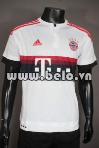 Áo bóng đá Bayern Munich 2015-2016 sân khách trắng mẫu 2
