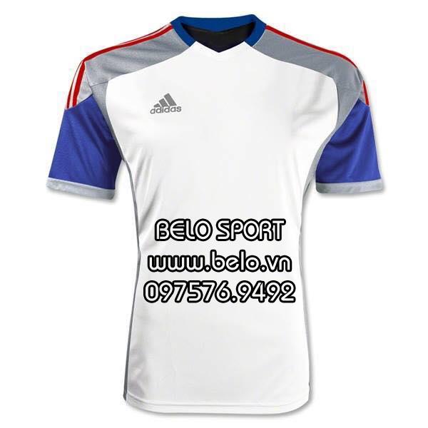 Áo bóng đá không logo Adidas trắng AKG2016-1
