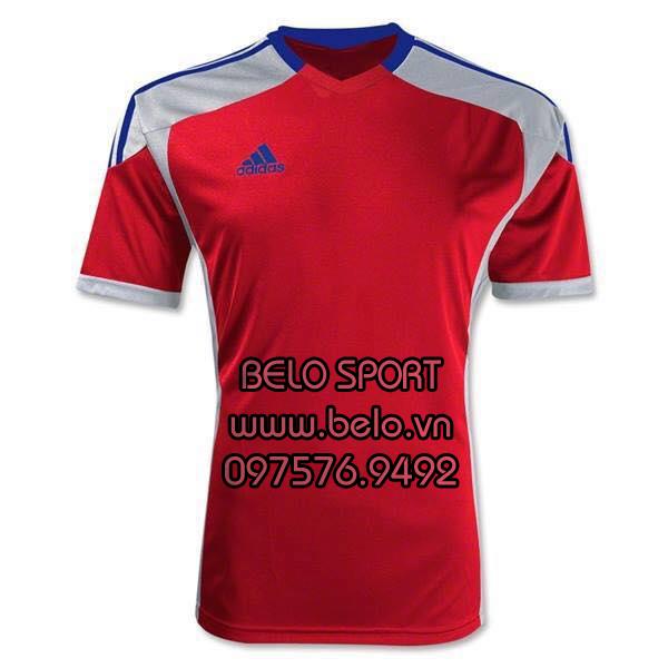 Áo bóng đá không logo AKG2016-10 Adidas đỏ