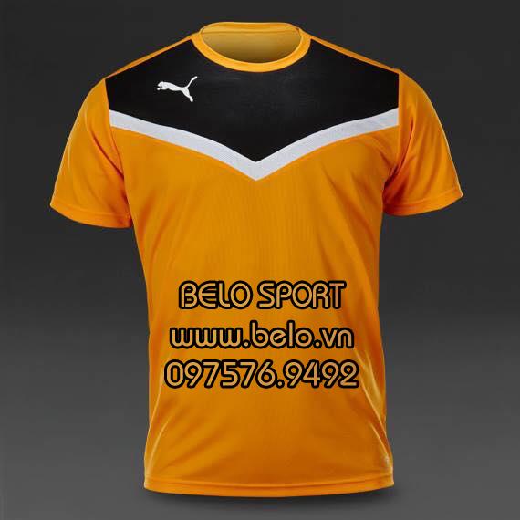 Áo bóng đá không logo  màu vàng đen AKG2016-4