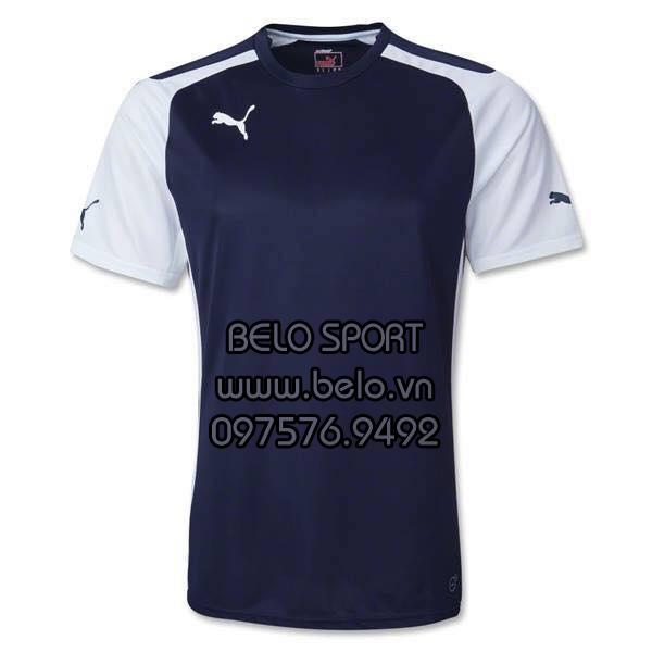 Áo bóng đá không logo Puma màu tím than AKG2016-3