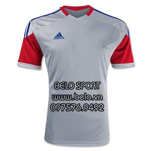Áo bóng đá không logo AKG2016-11 adidas xám