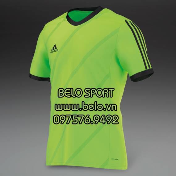 Áo bóng đá không logo AKG2016-9 Adidas xanh chuối