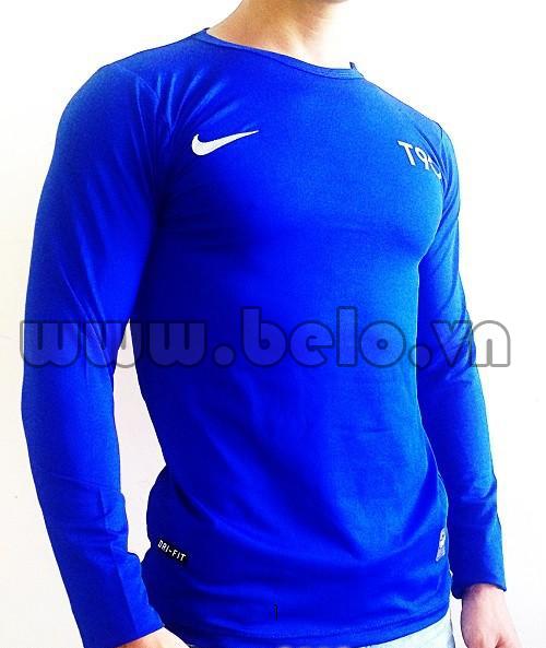 Áo lót bóng đá body giá rẻ mẫu BOD003 Nike xanh biển