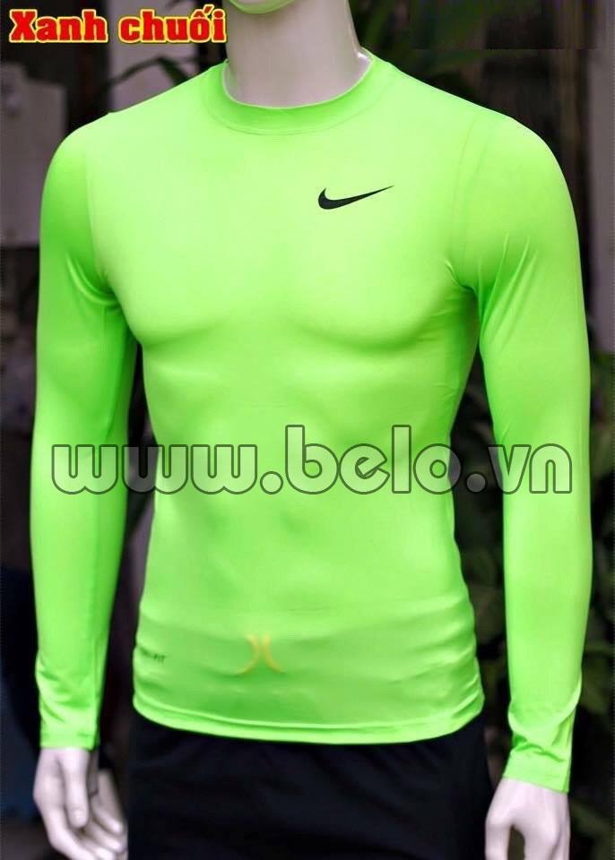 Áo lót bóng đá body giá rẻ mẫu BOD001 Nike xanh chuối