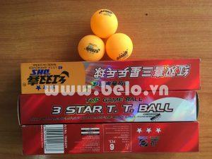 Hộp quả bóng bàn DHS 3 sao màu vàng tiêu chuẩn thi đấu