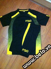 Áo bóng đá không logo F50 cao cấp màu đen AKLG2016-19