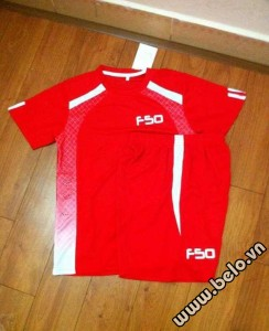 Áo bóng đá không logo F50 cao cấp màu đỏ AKLG2016-22