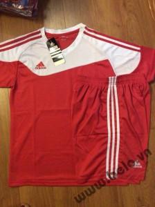 Áo không logo adidas cao cấp có lưới thoát nhiệt màu đỏ AKLG2016-25