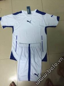 Áo bóng đá không logo puma trắng AKLG 31-2016