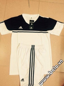 Áo bóng đá không logo adidas màu đen trắng AKLG2016-27
