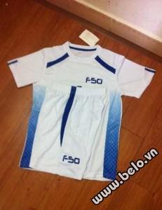 Áo bóng đá không logo F50 cao cấp màu trắng AKLG2016-21