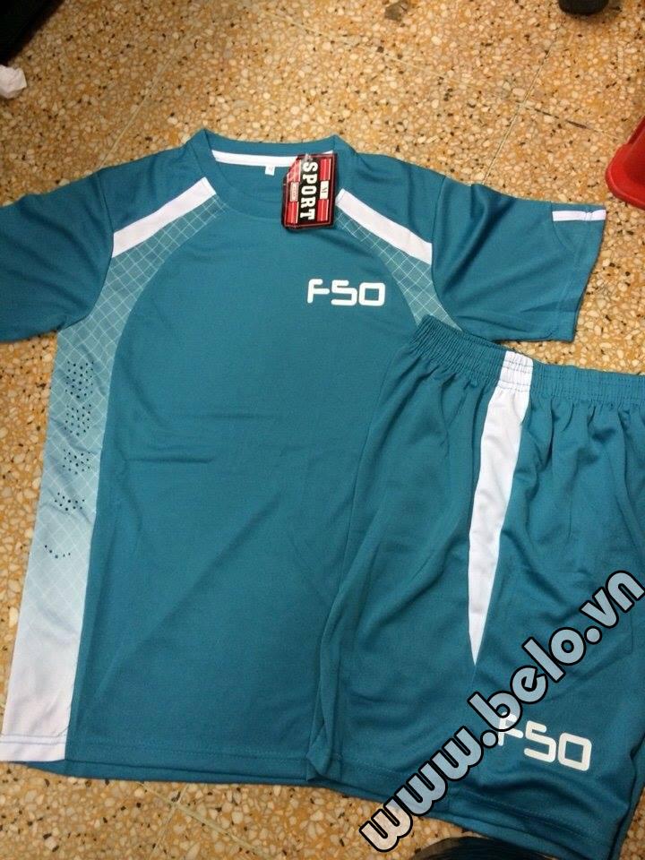 Áo bóng đá không logo F50 cao cấp màu xanh AKLG2016-20