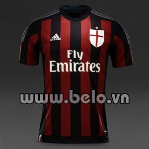 Áo bóng đá AC milan đỏ đen sân nhà năm 2015-2016