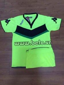Áo bóng đá Kappa Wolfsburg 2016 cao cấp màu chuối