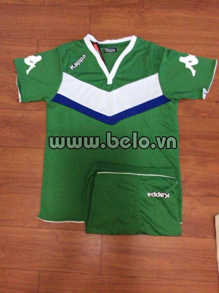 Áo bóng đá Kappa Wolfsburg 2016 màu xanh lá