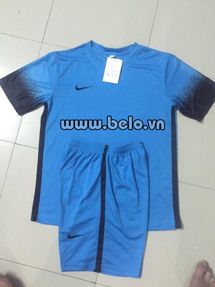 Áo bóng đá không logo xanh biển AKLG 35-2016