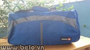 Túi đựng giày thể thao hình trống màu xanh biển