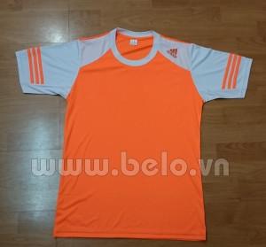 Áo bóng đá không logo adidas màu cam tay trắng mã AKLG43-2016